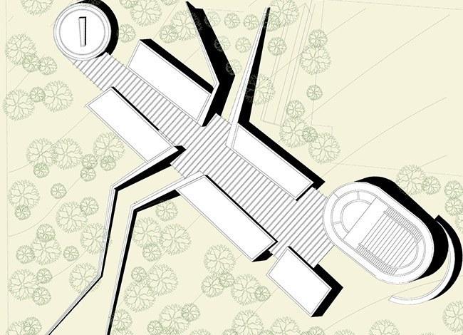 פרויקט אדריכלות למרכז קהילתי