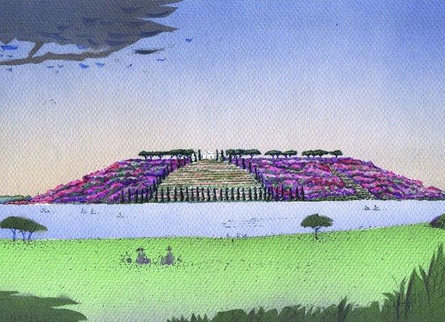פרויקט אדריכלות נוף פארק איילון