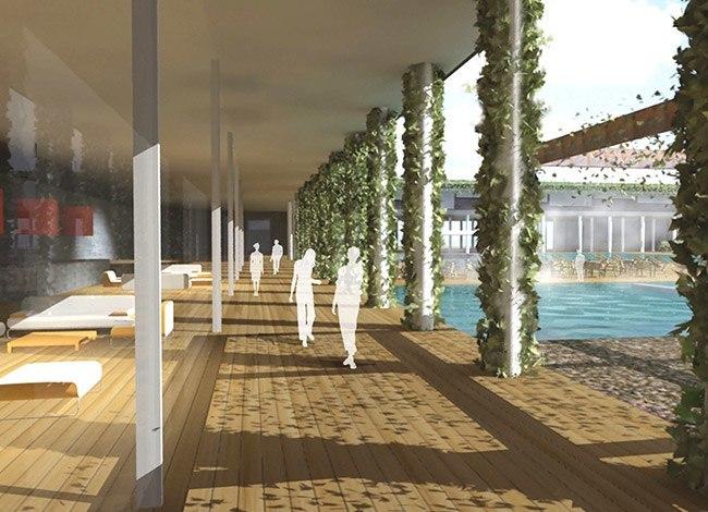 פרויקט אדריכלות למלון בוטיק