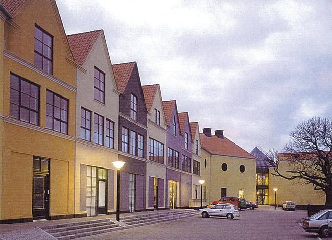 פרויקט אדריכלות למרכז מסחרי בדנמרק